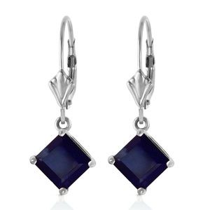 Galaxy Gold Products Jewelry - 14K GOLD LEVERBACK EARRING WITH NATURAL SAPPHIRES